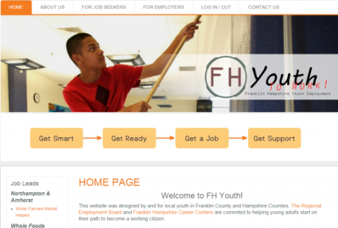 Franklin Hampshire Youth Employment Screenshot